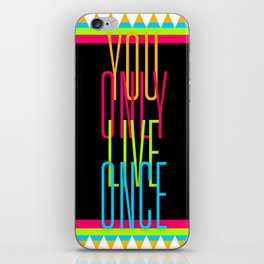 Cascading Neon YOLO iPhone Skin