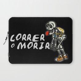 correr o morir Laptop Sleeve