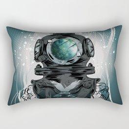 Deep Space Diver Rectangular Pillow