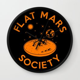 Flat mars society Wall Clock