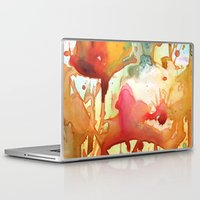 poppies Laptop & iPad Skins featuring Poppies by Yevgenia Watts