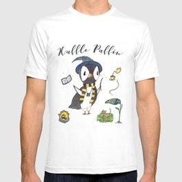 Huffle Puffin, HP, Fan Art, Puffins, Puffin, Illustration, Magic T-shirt