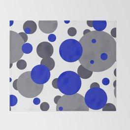 Bubbles blue grey- white design Throw Blanket
