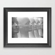 white people Framed Art Print