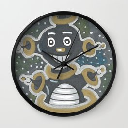 Robot in Space Wall Clock