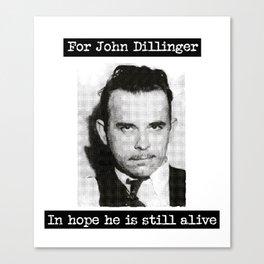 Dillinger Canvas Print