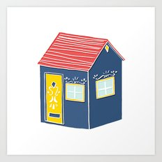 Little Scandinavian House Art Print