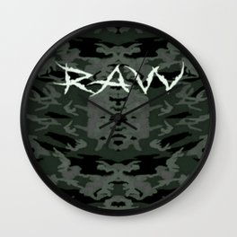 Raw ripped fatigue Wall Clock