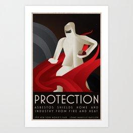 Fire Protection - 1939 New York World's Fair Poster Art Print