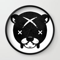 suit Wall Clocks featuring Bear Suit by Terry Mack