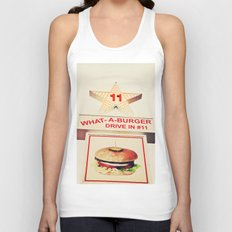 What A Burger Unisex Tank Top