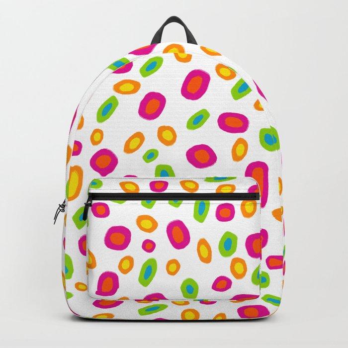 Colorful Circles Abstract Print Backpack
