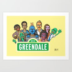Sunny Days at Greendale Art Print