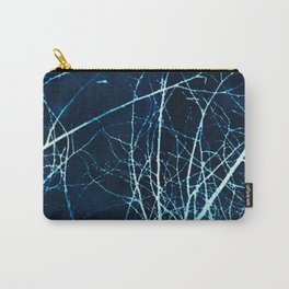 Twigs in Winter Cyanatope Print Carry-All Pouch