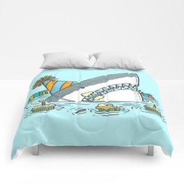 Birthday Shark II Comforters
