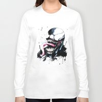 venom Long Sleeve T-shirts featuring Venom  by Liam Shaw Illustration