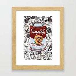 Golden Retriever pop art Framed Art Print
