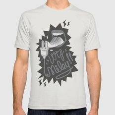Enough Miley Mens Fitted Tee Silver SMALL