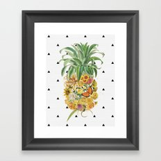 Pineapple Floral Framed Art Print