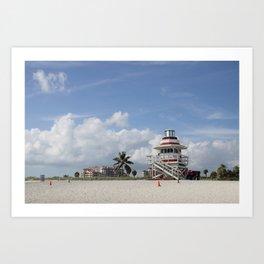 South Beach Miami Lifeguard Station Art Print