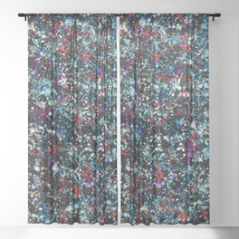 paint drop design - abstract spray paint drops 4 Sheer Curtain