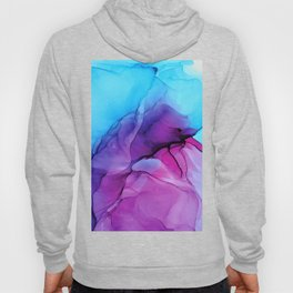Aqua Pop - Alcohol Ink Painting Hoody