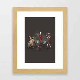 Thriller before Christmas Framed Art Print