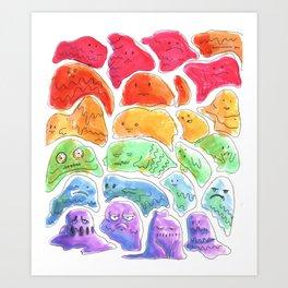 rpg slime rainbow Art Print
