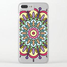 Tenacity Mandala Clear iPhone Case