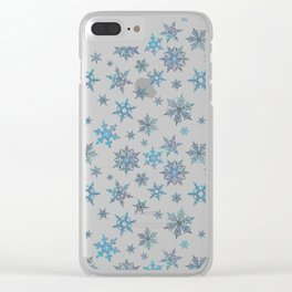 """""""Embroidered"""" Snowflakes Clear iPhone Case"""
