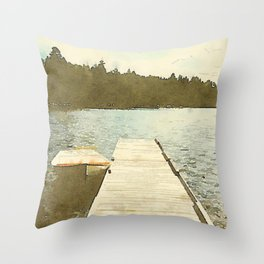 Lily Bay Dock Throw Pillow