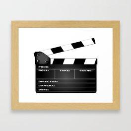 Clapperboard Framed Art Print