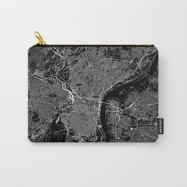 Philadelphia Black Map Carry-All Pouch