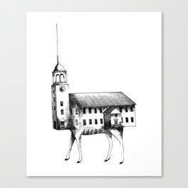 Iglesia con patas / Church with legs Canvas Print