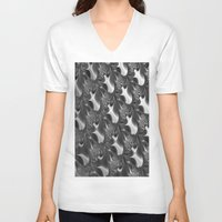 scales V-neck T-shirts featuring  Scales. by Assiyam