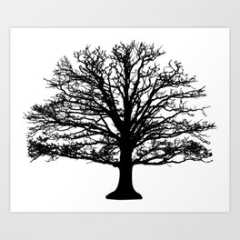 Tree of life | Gothic tree decor | Tree | Black tree Art Print