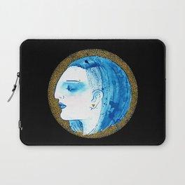 Blue portrait Laptop Sleeve