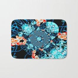 HypnoSpace- Tangent Blue & Orange Bath Mat