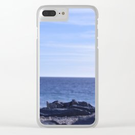 sea rocks. Clear iPhone Case