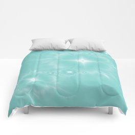 Fleur de Nuit in Aqua Tone Comforters
