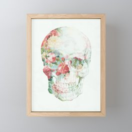 Skull Bouquet Framed Mini Art Print