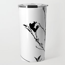 Botanical Contrast Travel Mug