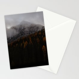 Snowy Autumn Mountain Stationery Cards