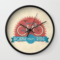 brompton Wall Clocks featuring Born to Ride by Wyatt Design