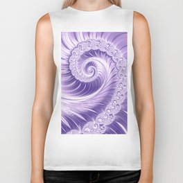 Ultra Violet Luxe Spiral Pattern | Trendy Color of the Year 2018 Biker Tank