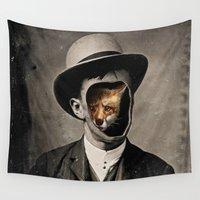 gentleman Wall Tapestries featuring Gentleman Fox by 38 Sunsets