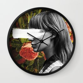 floral sign Wall Clock
