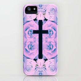 Pastel Rose Cross iPhone Case