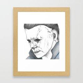 Happy Halloween, Michael Myers Portrait Framed Art Print