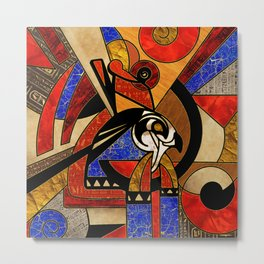 Egyptian Horus Geometric Abstract Metal Print